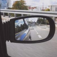looking thru the side mirror